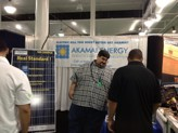 Our Akamai Energy staff explains Solar Photovoltaic (PV) System to customers at the BIA Show
